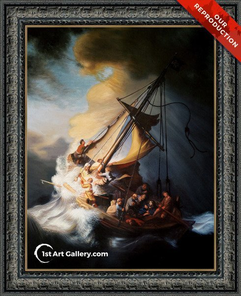 Christ In The Storm On The Sea Of Galilee Painting by Rembrandt Van Rijn - Oil Reproduction