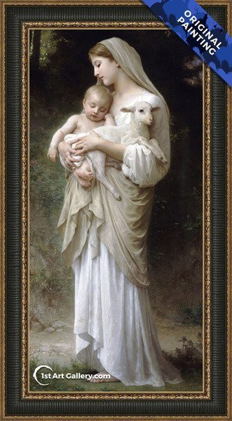 L'innocence Painting by William-Adolphe Bouguereau - Original Painting