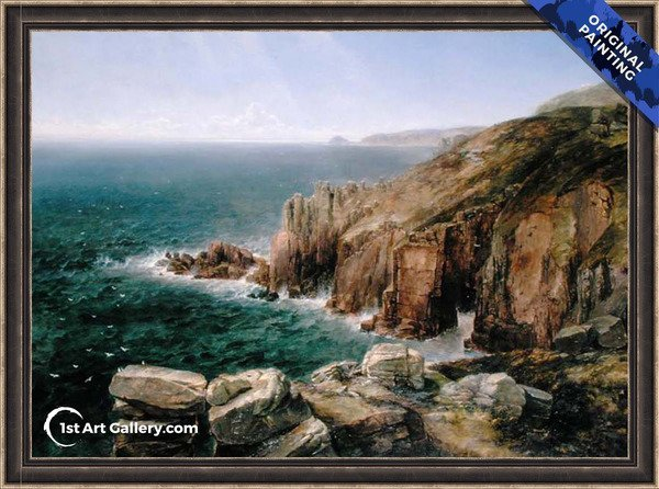 Land's End, Cornwall Painting by Thomas Creswick - Original Painting