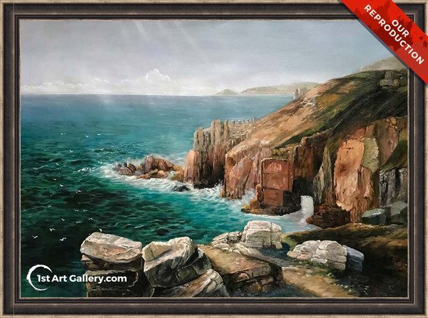 Land's End, Cornwall Painting by Thomas Creswick - Oil Reproduction