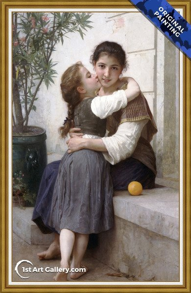 Calinerie Painting by William-Adolphe Bouguereau - Original Painting