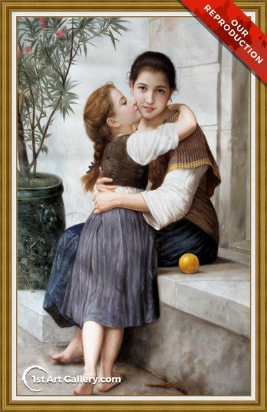 Calinerie Painting by William-Adolphe Bouguereau - Oil Reproduction