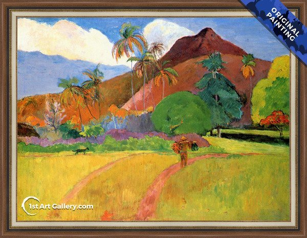 Tahitian Landscape2 Painting by Paul Gauguin - Original Painting