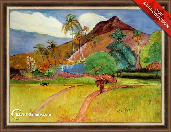 Tahitian Landscape2 Painting by Paul Gauguin - Oil Reproduction