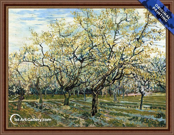 The White Orchard Painting by Van Gogh - Original Painting