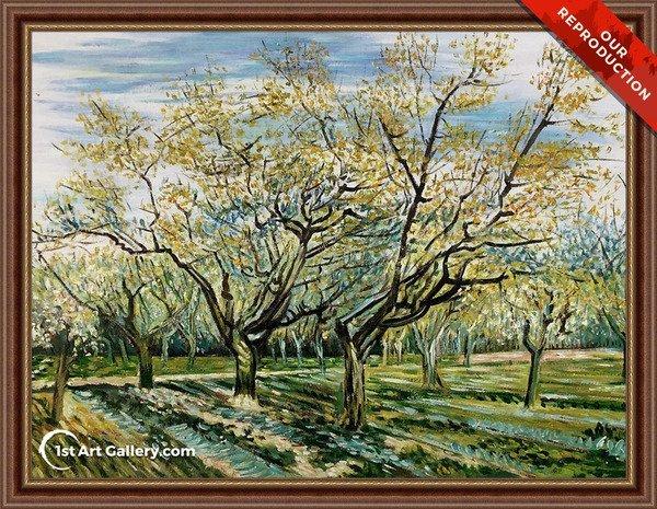 The White Orchard Painting by Van Gogh - Oil Reproduction