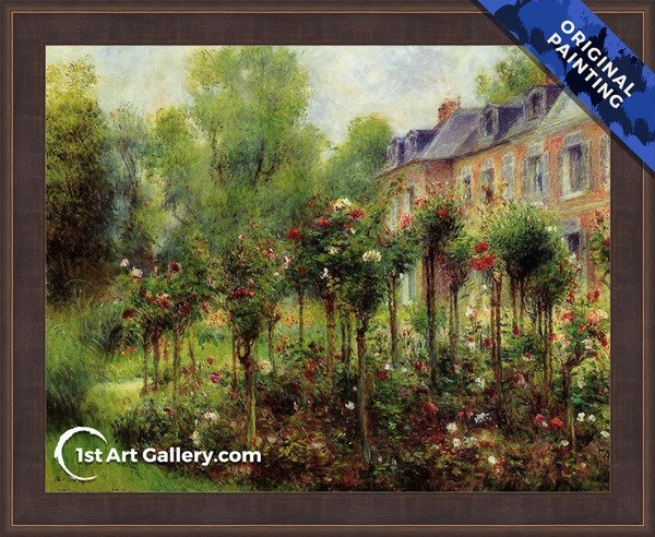 The Rose Garden At Wargemont Painting - Original Painting