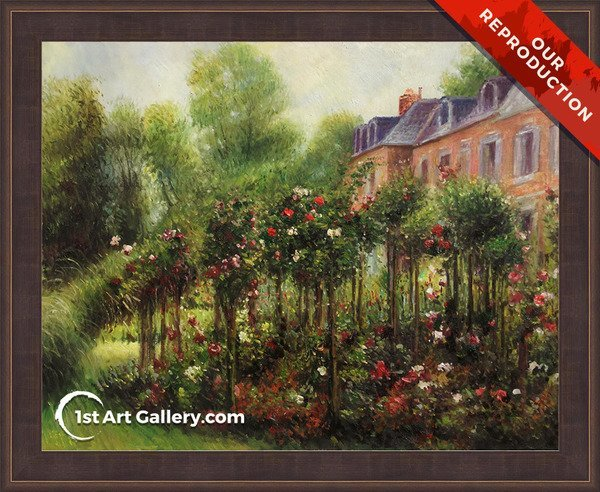 The Rose Garden At Wargemont Painting - Oil Reproduction