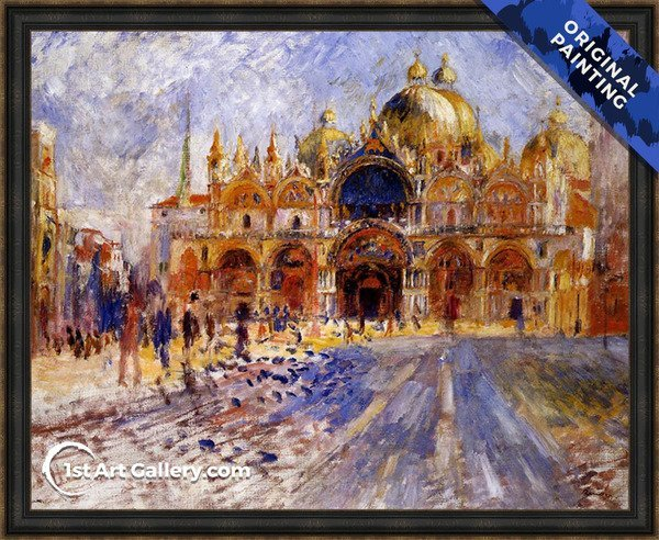 The Piazza San Marco Venice Painting - Original Painting