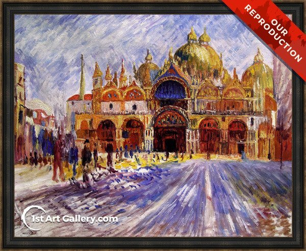 The Piazza San Marco Venice Painting - Oil Reproduction