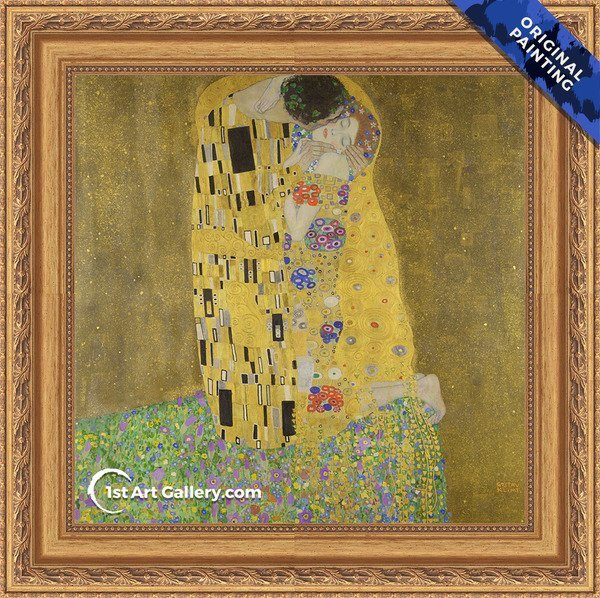 The Kiss Painting by Gustav Klimt - Original Painting