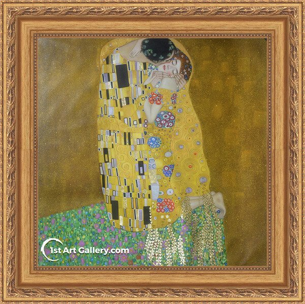 The Kiss Painting by Gustav Klimt - Oil Reproduction
