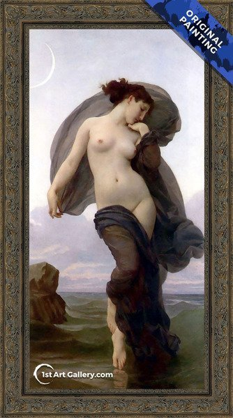 Le crepuscule (Twilight) (or Evening Mood) Painting by William-Adolphe Bouguereau - Original Painting