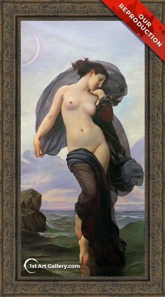 Le crepuscule (Twilight) (or Evening Mood) Painting by William-Adolphe Bouguereau - Oil Reproduction