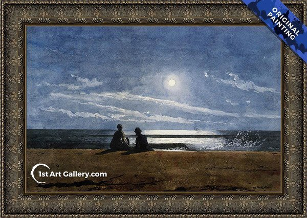 Moonlight Painting by Winslow Homer - Original Painting