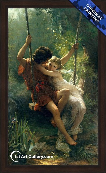 Springtime Painting by Pierre Auguste Cot - Original Painting