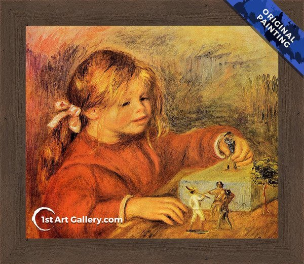 Claude Renoir Playing Painting by Pierre Renoir - Original Painting