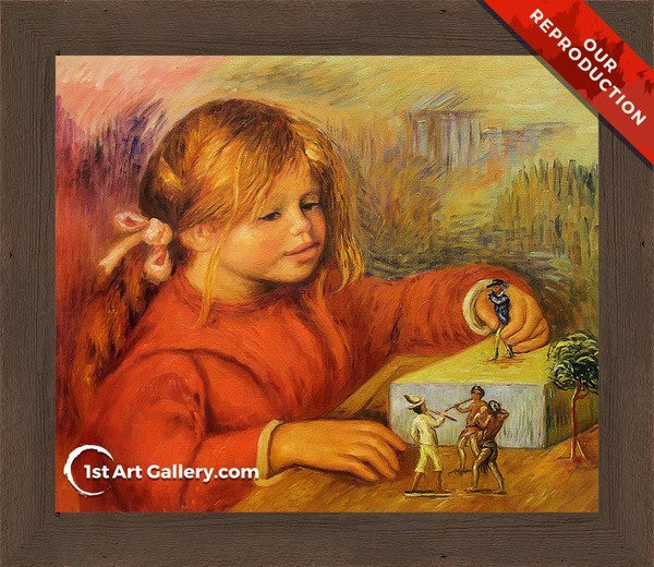 Claude Renoir Playing Painting by Pierre Renoir - Oil Reproduction