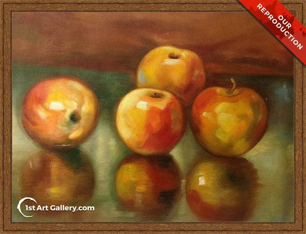 Apples Painting by Stefan Luchian - Oil Reproduction