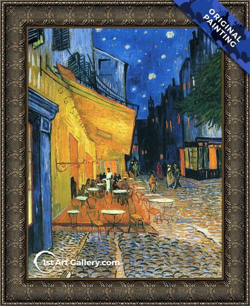 Cafe Terrace on the Place du Forum Painting by Vincent Van Gogh - Original Painting