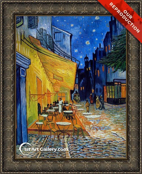 Cafe Terrace on the Place du Forum Painting by Vincent Van Gogh - Oil Reproduction