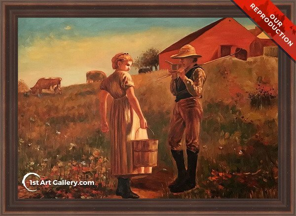 A Temperance Meeting Painting - Oil Reproduction
