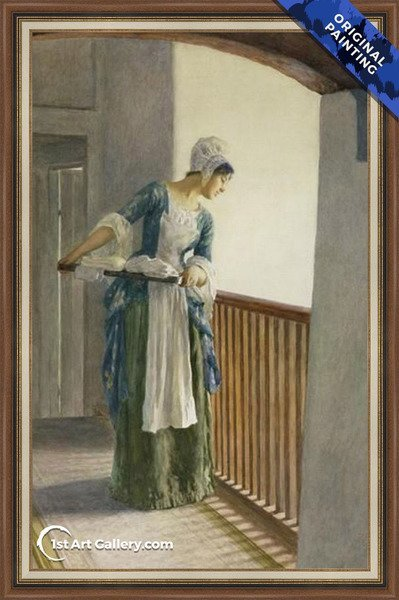 The Laundry Maid Painting by William Margetson - Original Painting