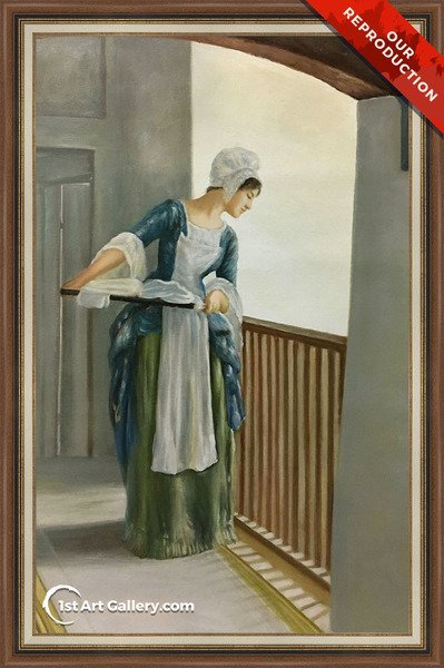The Laundry Maid Painting by William Margetson - Oil Reproduction