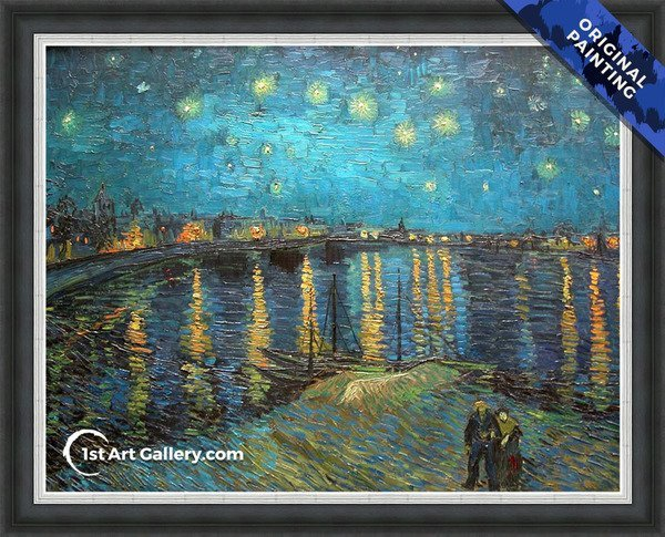 Starry Night Over The Rhone Painting by Vincent Van Gogh - Original Painting