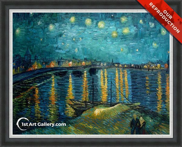 Starry Night Over The Rhone Painting by Vincent Van Gogh - Oil Reproduction
