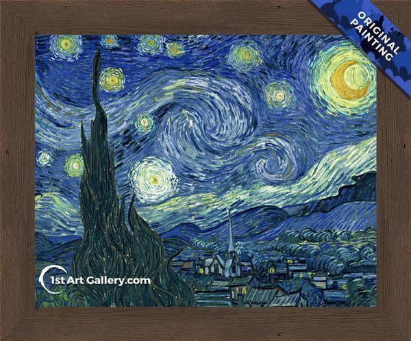 Starry Night Painting by Vincent Van Gogh - Original Painting