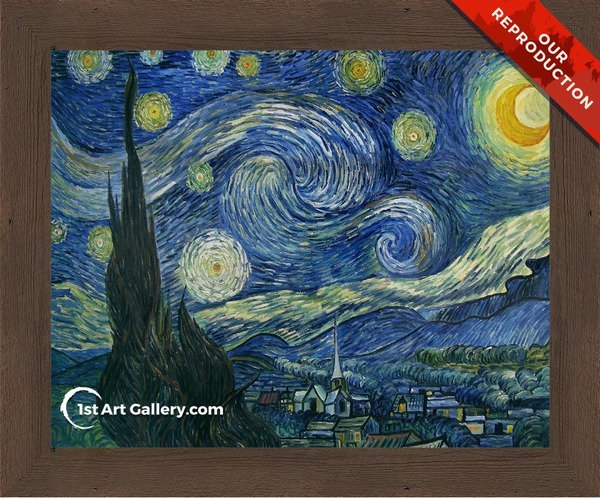 Starry Night Painting by Vincent Van Gogh - Oil Reproduction