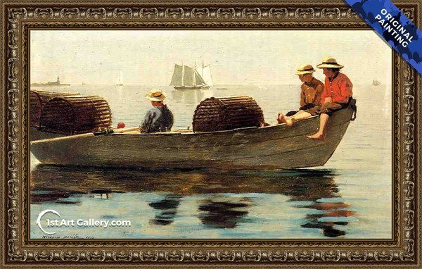 Three Boys in a Dory Painting by Winslow Homer - Original Painting