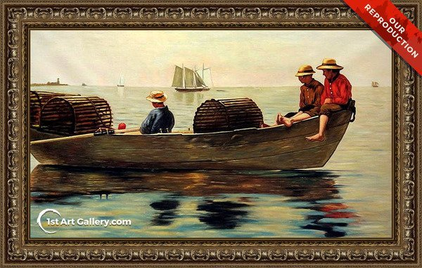 Three Boys in a Dory Painting by Winslow Homer - Oil Reproduction