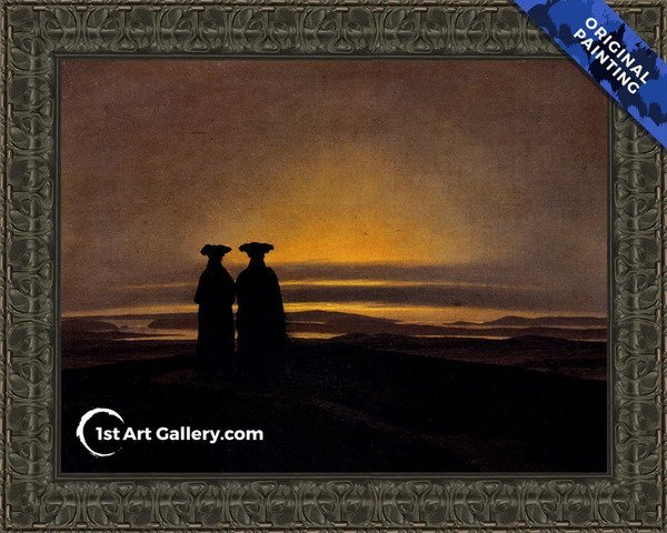 Sunset (Brothers) Painting by Caspar David Friedrich - Original Painting