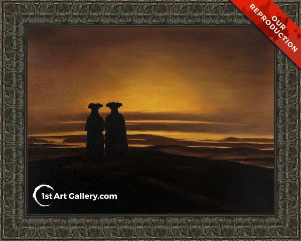 Sunset (Brothers) Painting by Caspar David Friedrich - Oil Reproduction