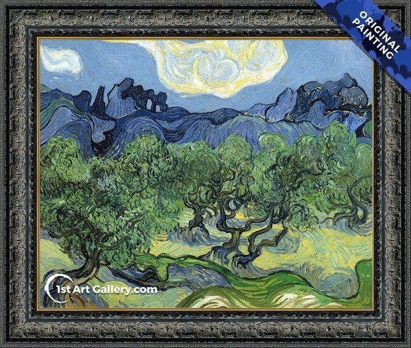 The Alpilles with Olive Trees in the Foreground Painting by Vincent Van Gogh - Original Painting