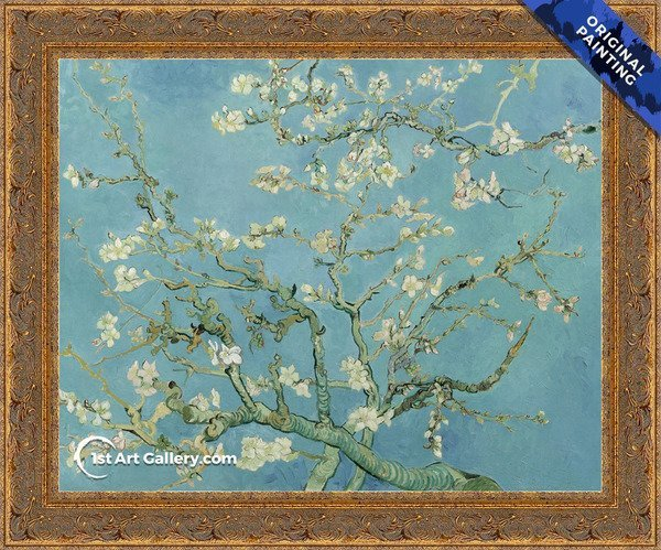 Branches with Almond Blossom Painting by Vincent Van Gogh - Original Painting