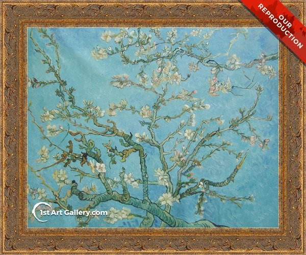 Branches with Almond Blossom Painting by Vincent Van Gogh - Oil Reproduction