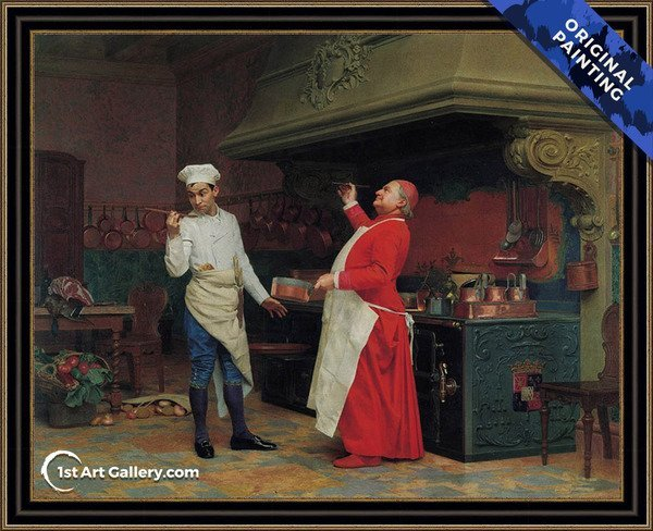 The Marvelous Sauce Painting by Jehan Georges Vibert - Original Painting