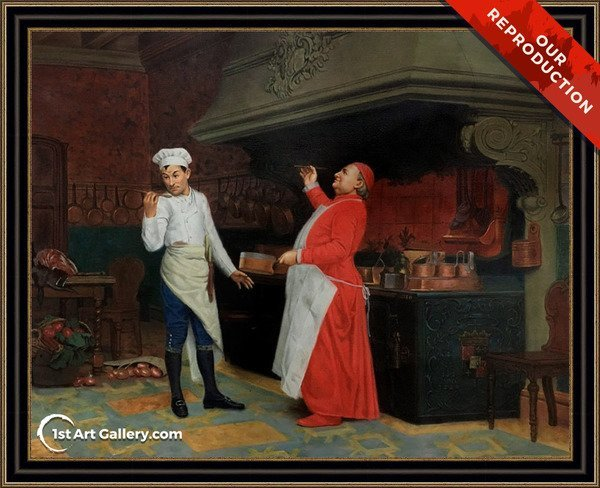 The Marvelous Sauce Painting by Jehan Georges Vibert - Oil Reproduction