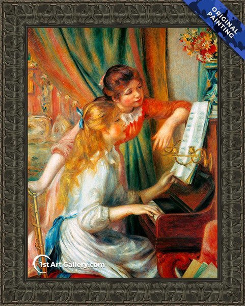 Girls At The Piano2 Painting by Pierre Auguste Renoir - Original Painting