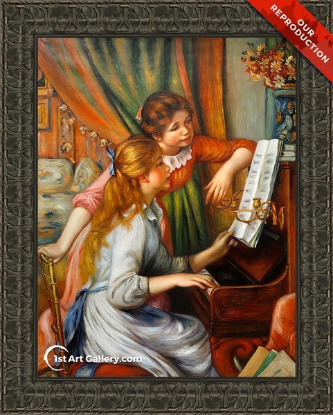Girls At The Piano2 Painting by Pierre Auguste Renoir - Oil Reproduction