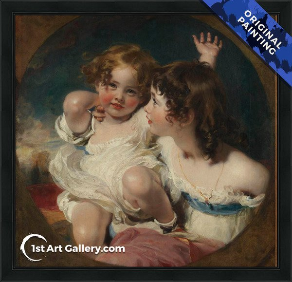 The Calmady Children 1824 Painting by Sir Thomas Lawrence - Original Painting