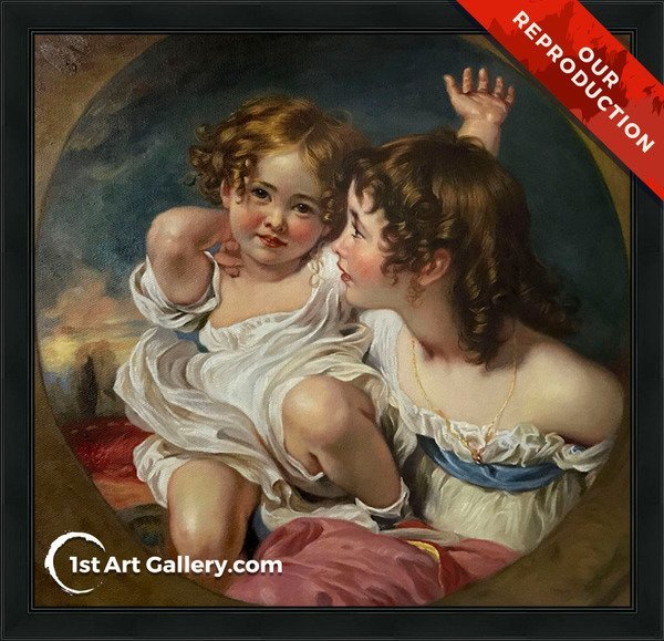 The Calmady Children 1824 Painting by Sir Thomas Lawrence - Oil Reproduction