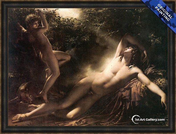 Endymion. Moonlight Effect Painting by Anne-Louis Girodet de Roucy-Triosson - Original Painting