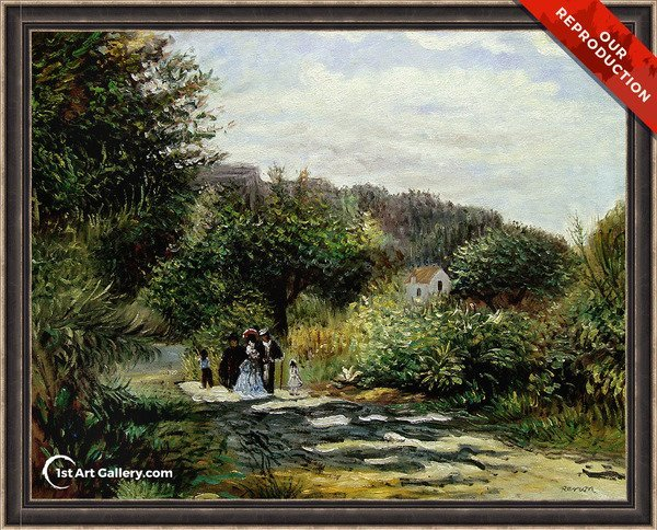 A Road In Louveciennes Painting by Pierre Auguste Renoir - Oil Reproduction