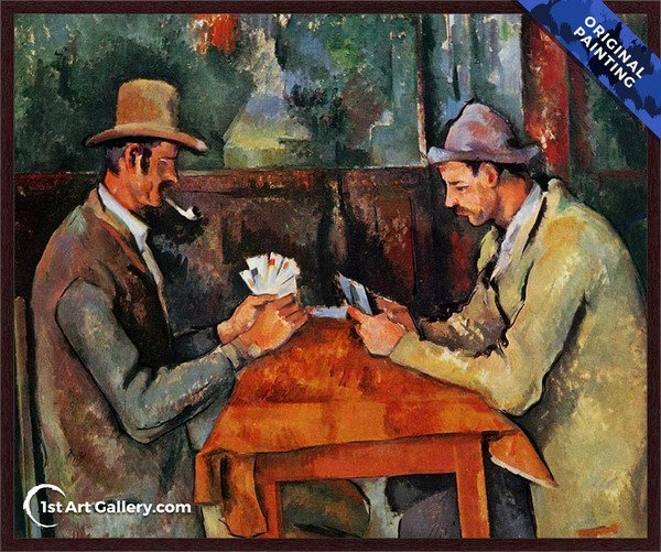 The Card Players Painting by Paul Cezanne - Original Painting