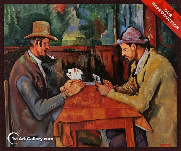 The Card Players Painting by Paul Cezanne - Oil Reproduction