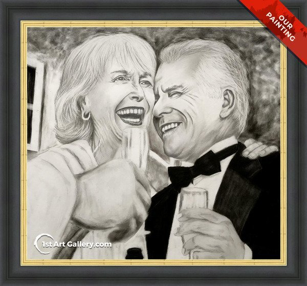 Portrait of a man and woman laughing
